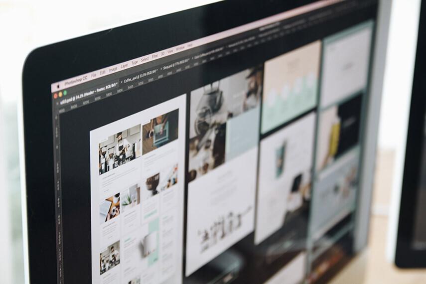 foto ilustrativa de portfólio de um web designer