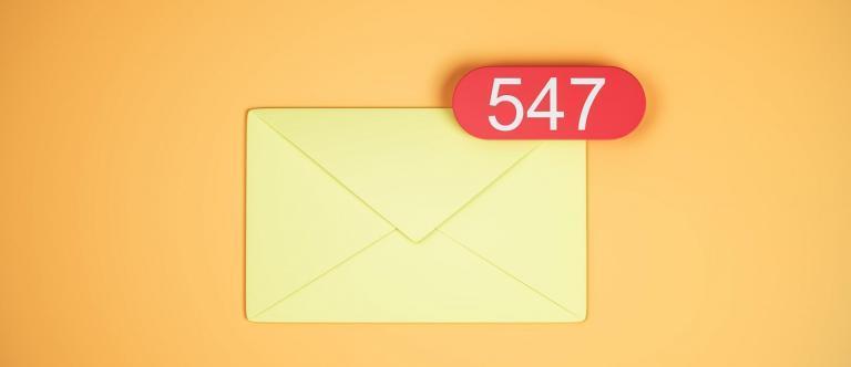 caixa de e-mails vazia